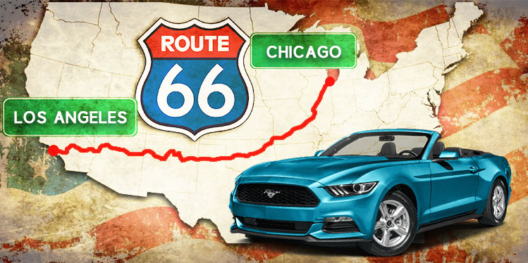 Route 66 Car Rental Chicago To Los Angeles