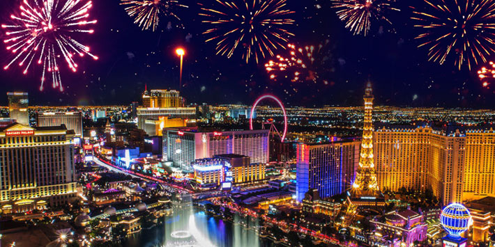 Celebrate the New Year's eve in Las Vegas, Nevada