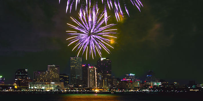 Celebrate the New Year's eve in New Orleans, Louisiana