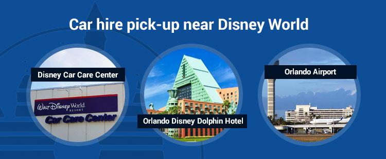Disney world car rental -pickup-locations